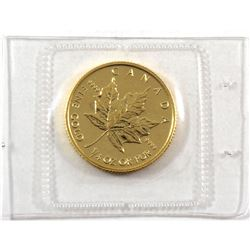 1992 Canada 1/4oz .9999 Fine Gold Maple Leaf in Original Sealed Mint Plastic (TAX Exempt).