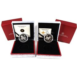 2014 Canada $15 Zodiac Year of the Horse & 2015 $15 Zodiac Year of the Sheep Fine Silver Coins (2015