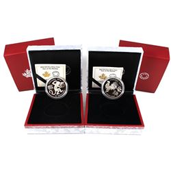 2016 Canada $15 Zodiac Year of the Monkey & 2017 $15 Zodiac Year of the Rooster Fine Silver Coins. 2