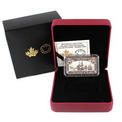 2019 $20 Canada's Historical Stamps: Arrival of Cartier - Quebec 1535 Fine Silver (TAX Exempt).