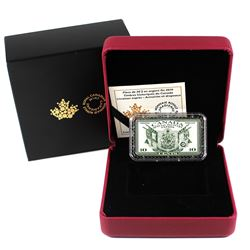 2019 $20 Canada's Historical Stamps Coat of Arms & Flags Special Delivery Fine Silver (TAX Exempt).