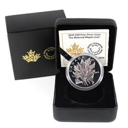 2019 Canada $20 The Beloved Maple Leaf Fine Silver Coin (TAX Exempt).