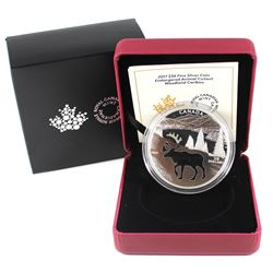 2017 Canada $30 Endangered Animal Cutout - Woodland Caribou Fine Silver Coin (TAX Exempt).