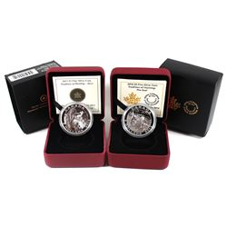 2013 Canada $5 Tradition of Hunting - Deer & 2014 $5 Tradition of Hunting - The Seal Fine Silver Coi