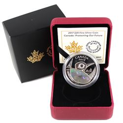 2017 Canada $20 Protecting Our Future Hologram Fine Silver Coin (TAX Exempt).