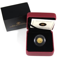 2012 Canada 50-cents Caribou Gold Rush 1/25oz. Gold Coin (TAX Exempt).