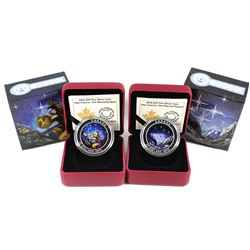 2015 Canada $25 Star Charts - The Wounded Bear & Eternal Pursuit Fine Silver Coins. 2pcs (TAX Exempt
