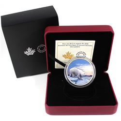 2018 Canada $30 Arctic Animals & the Northern Lights - Polar Bear Fine Silver Coin (TAX Exempt). Iss
