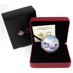 2018 Canada $30 Arctic Animals & the Northern Lights - Snowy Owl Fine Silver Coin (TAX Exempt).