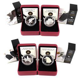 2013 Canada $20 Bald Eagle Fine Silver Coin Series – Portrait of Power, Lifelong Mates, Returning fr