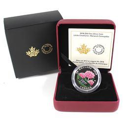 2018 Canada $20 Little Creatures - Monarch Caterpillar Fine Silver Coin (TAX Exempt).