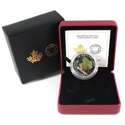 2016 Canada $20 Little Creatures - Snail With Murano Glass Fine Silver Coin (TAX Exempt).