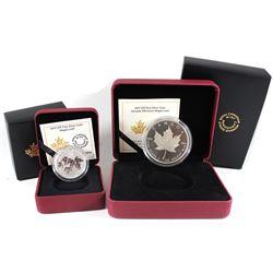 2015 Canada $10 Maple Leaf & 2017 $10 150 Iconic Maple Leaf 2oz Fine Silver Fine Silver Coins. 2pcs