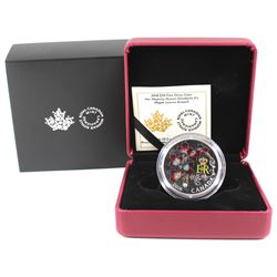 2018 Canada $20 Queen Elizabeth II's Maple Leaves Brooch Fine Silver Coin (TAX Exempt).