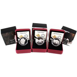 2014 Canada $20 The Bison Series Fine Silver Coins – The Bull and His Mate, The Fight & A Portrait.