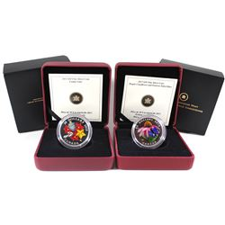 2013 Canada $20 Purple Coneflower & Eastern Tailed Blue Butterfly & 2013 $20 Holiday Candy Cane Fine