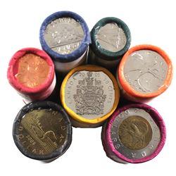 Rolls: 2005 Canada 1-cent to $2.00 Original Roll Lot. 7 Rolls.