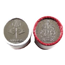 2017 Canada 50-cents Coat of Arms & Canada 150 Special Wrap Rolls. 2 Rolls.