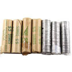 Estate Lot of Canada Original 10-cents Rolls - 1978, 1979, 1980, 1981, 1997, 2002P & 2011. 7 Rolls.