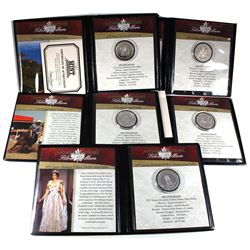 1971-1977 Canada Silver Dollar Lot from First Commemorative Mint. You will receive the 1971 British