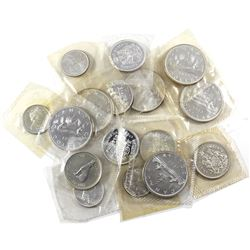 Lot of 1963-1967 Canada $10 Face Value Silver Coinage Sealed in Plastic Cut from Proof Like Sets. Yo