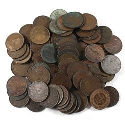 *Group Lot of Canada Mixed Date George V Large Cents. 100pcs.