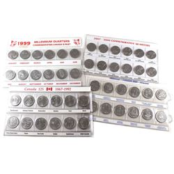 Group Lot of Canada 12-coin 25-cents Commemorative Sets in Plastic Sleeves. You will receive 1867-19