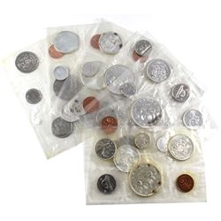 Lot of Canada Proof Like Sets in RCM Sealed Pliofilm - 1961, 1963, 1964, 1965, 1966, 1967 & 1968 (so