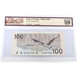 1988 $100 BC-60d, Knight-Dodge, S/N: BJV2217228, BCS Certified AU-58 Original.