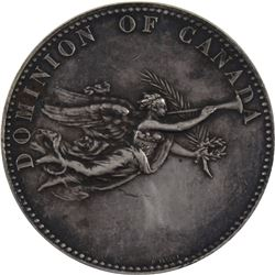 1876 Dominion of Canada Exhibition Medal (Not Awarded) Silver Medal by E.P. Tasset. 41mm diameter, w