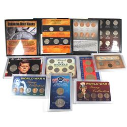 Estate Lot of Commemorative USA Coin Sets. You will receive 'Changing Mint Marks' 5-coin set, 'Linco