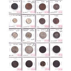Mixed Page of World Coinage from a Variety of Countries. 20pcs.
