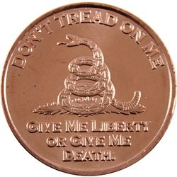 *20x 1oz .999 Fine Copper Rounds in Tube - 10x USS Constitution Ship & 10x Don't Tread On Me. 20pcs