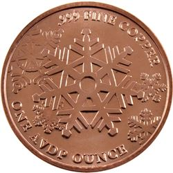 *20x 1oz .999 Fine Copper Rounds in Tube - 10x Merry Christmas To All & 10x Unto Us A Child Is Born.