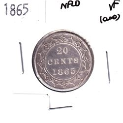 NFLD Silver 20-cent 1865 Very Fine *First Year issue!*