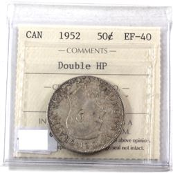 50-cents 1952 Double HP Variety ICCS Certified EF-40.