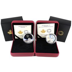 2016 Canada $20 The Universe & $20 The Universe Glow-In-The-Dark Glass with Fume Fine Silver Coins (