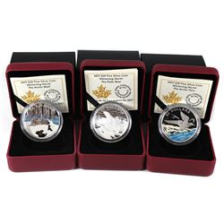 2017 Canada $20 Glistening North The Arctic Tern, The Polar Bear & The Arctic Wolf Fine Silver Coins
