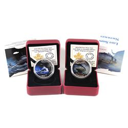 2014 $20 Lost Ships in Canadian Waters - Empress of Ireland & 2015 $20 S.S. Edmund Fitzgerald Fine S