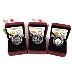 2014 $10 O Canada Fine Silver Coin Series - Canada Goose, Igloo & Moose (Igloo missing outer sleeve)