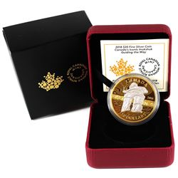 2018 $20 Canada's Iconic Inukshuk - Guiding the Way Gold Plated Fine Silver Coin (TAX Exempt).
