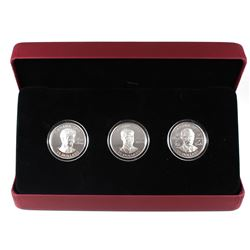 2011 Canada $15 Continuity of the Crown Sterling Silver 3-Coin Set (outer sleeve is worn).