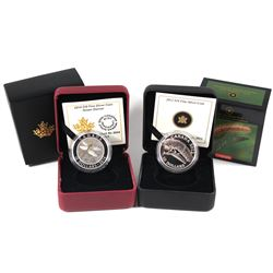 2012 $10 Canadian Geographic - Praying Mantis & 2014 $10 Dragonfly - Green Darner Fine Silver Coins.