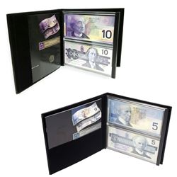 Lasting Impressions $5 and $10 Banknote Sets ($5 set outer cardboard is torn & the folder is discolo