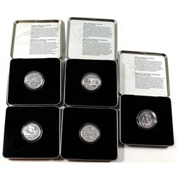 1998-2000 Canada 50-cents Sport Series Sterling Silver Coins in Tin Holders. You will receive 1998 G