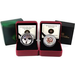 2013 Canada $20 Story of the Northern Lights - The Great Hare & 2013 $10 Dreamcatcher Fine Silver Co