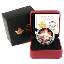 2017 $20 Canada's Coasts - Atlantic Coast Fine Silver Coin (TAX Exempt).