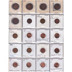 Mixed Page of 80 x Canada Small & Large Cents ranging 1913 to 2004. Please view image for details. 8
