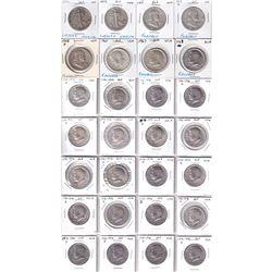 Mixed Lot of USA 28 x United States Half Dollars: 2x 1942, 1951, 1953D, 1958D, 1964, 2x 1967 & 20x 1