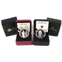 2012 Canada $20 The Queen's Diamond Jubilee with Crystal & 2014 $20 Royal Generations Fine Silver Co